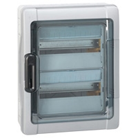 Waterdichte Kast 2x18 Modules Met Klemmenblok Ip65 Plexo